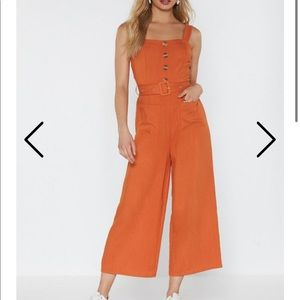 Nasty Gal Orange Jumpsuit